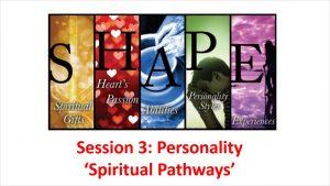 SHAPE Session 3 Extra: Spiritual Pathways